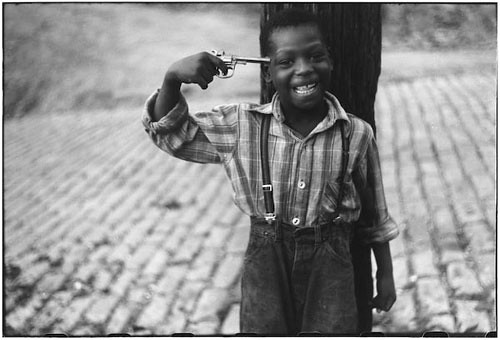 The Boy with a Gun image by Elliot Erwitt