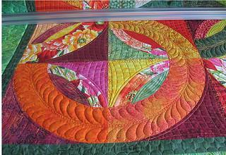 Closeup of Phyllis quilt
