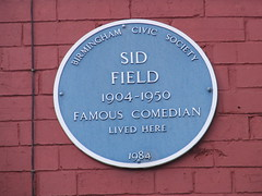 Photo of Sid Field blue plaque