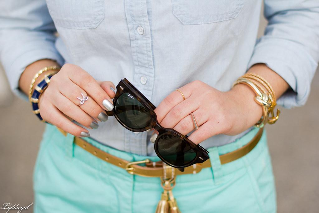 chambray shirt, turquoise shorts-6.jpg