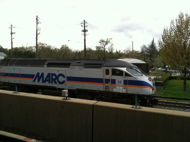 marc train from the college park metro station by geosteph flickr photo sharing. Black Bedroom Furniture Sets. Home Design Ideas
