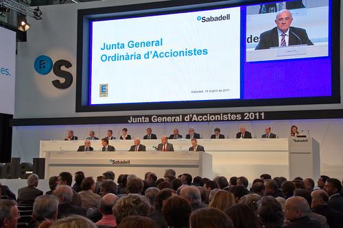 Junta General de Accionistas de Banco Sabadell 2011. Autor: BS