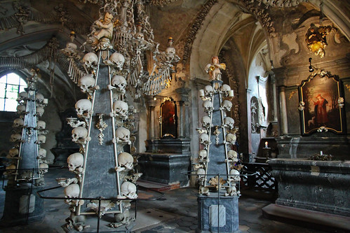 A pretty creepy place - The Sedlec Ossuary outside Kutná Hora / Czech Republic [Reupload]