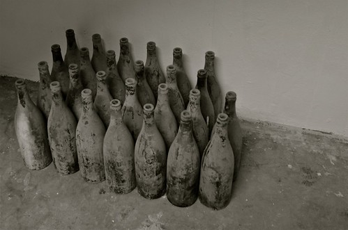 Looted bottles of wine (empty) | by paratrooperbe