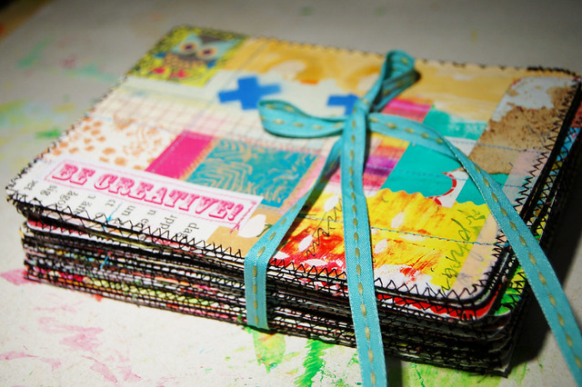 My batch of Sewn together Postcards
