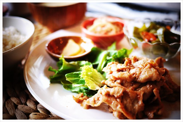 豚の梅生姜焼き