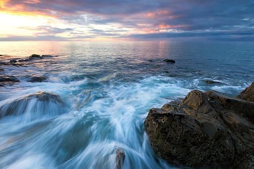 sunset seascape water rocks 7d tasmania 1022mm devonport ndgrad colesbeach