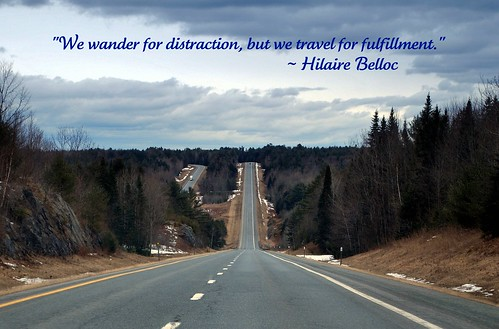 We wander for distraction ...
