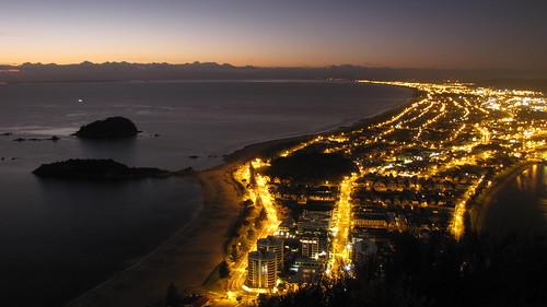 ocean new morning sea newzealand seascape beach night sunrise landscape island dawn scenery cityscape mt pacific wave zealand nz northisland bop tauranga bayofplenty manganui moturiki motoutau