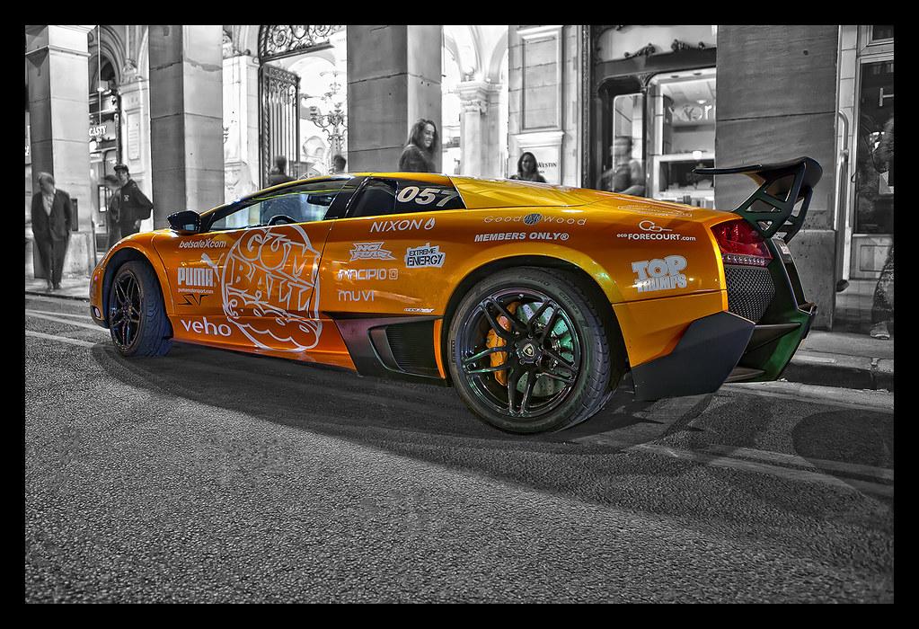 HDR orange Lamborghini Murcielago LP670-4 SV (SuperVeloce) – Gumball 3000 2011