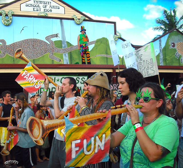 click to enlarge - at the Nimbin Mardi Grass