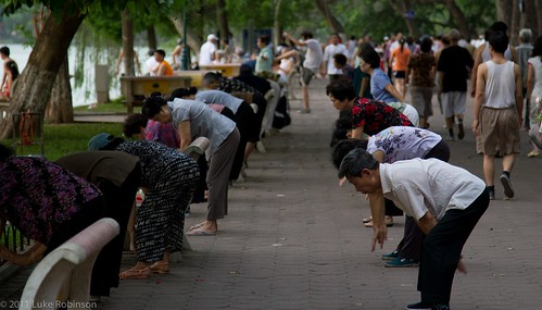 Exercise around Hoan Kiem Lake, Hanoi