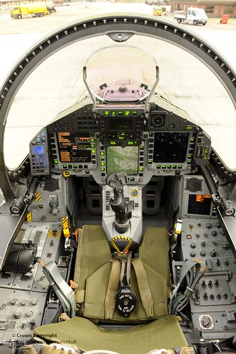 Cockpit of RAF Typhoon Fighter