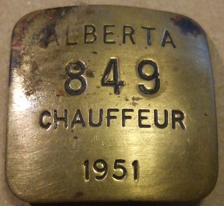 ALBERTA 1951 ---CHAUFFEURS BADGE