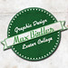 green vintage logo design