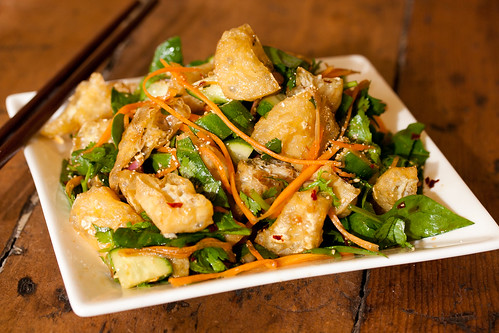 Thai Warm Tofu Puff Salad