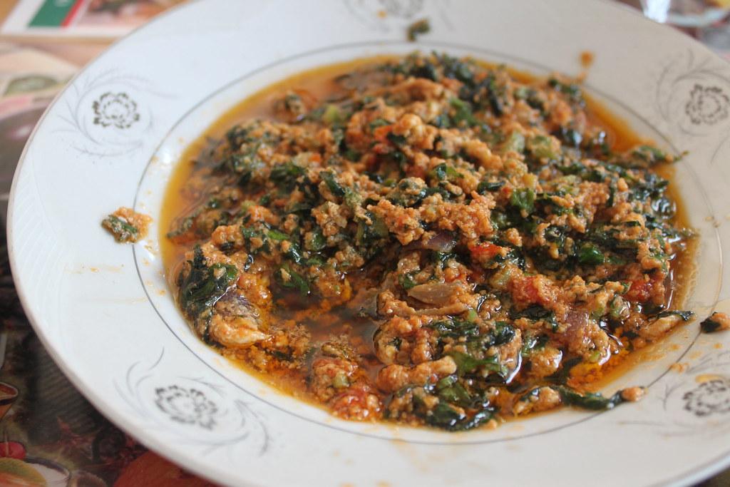 Palava sauce w/ cocoyam leaf