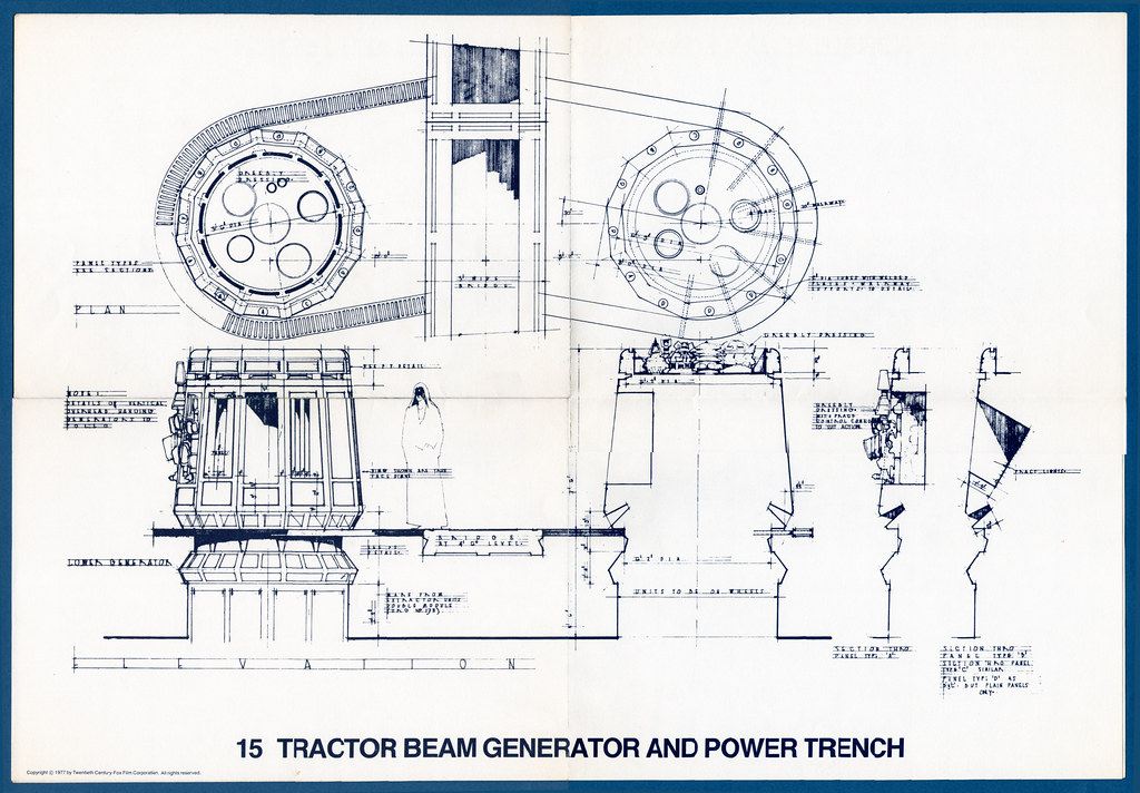 star wars blueprints 15 tractor beam generator and powe flickr photo sharing. Black Bedroom Furniture Sets. Home Design Ideas