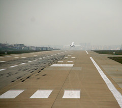 horizon, runway, flight,
