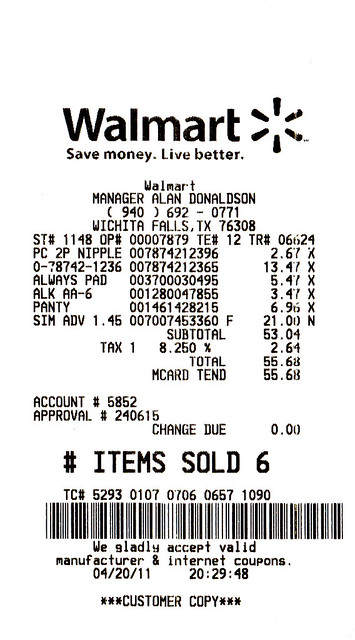 walmart sku number on receipt pictures to pin on pinterest pinsdaddy. Black Bedroom Furniture Sets. Home Design Ideas