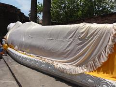 Sleeping Buddha at Wat Yai Chai Mongkol in Ayutthaya, Thailand