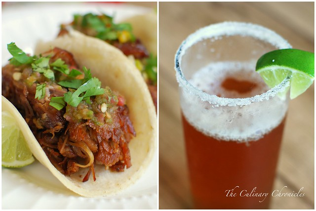 Fat Tire® Braised Carnitas Tacos and Chavelas