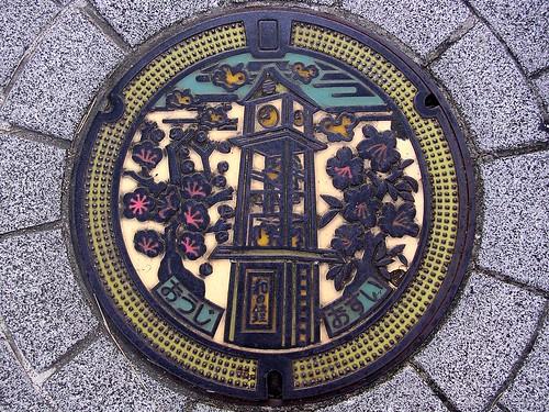Oji Nara manhole cover(奈良県王寺町のマンホール)