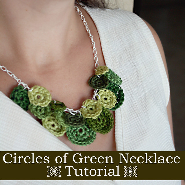 Color my summer circles of green necklace tutorial