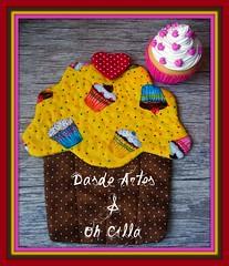 Mug Rug Cupcake by **DASDE Artes!**