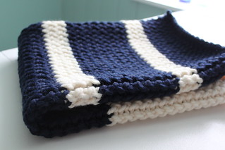 Handmade Knit Car Seat Blanket