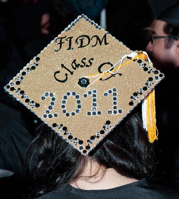 Fidm 2011 Graduation Decorated Mortar Boards Staples