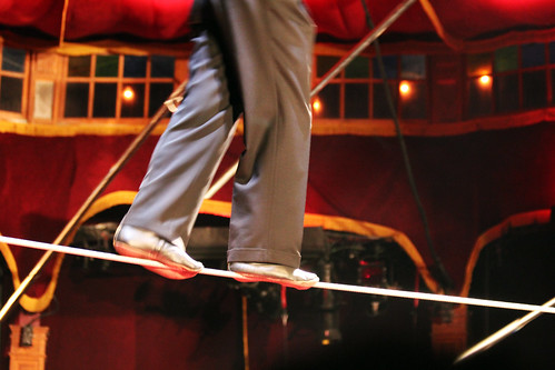 celebrate Mother's Day in Las Vegas - Absinthe tightrope walking