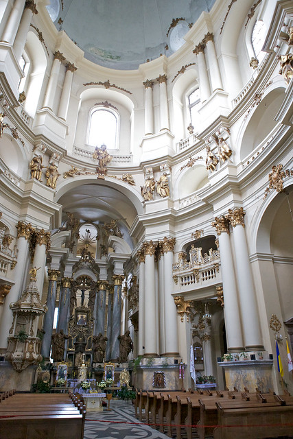 Dominican church. Interior. Lviv, Ukraine