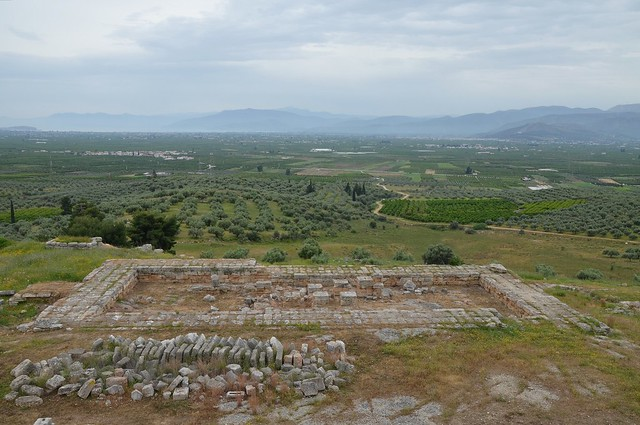 Overall view of New Temple of Hera from the upper terrace, Heraion of Argos, Greece