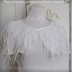 #wedding #weddinggown #cape #caplet #capelet #ostrich #fashion #feathercape #shawl #chiffon #couture #angel #swanlake #odette #tchaikovsky #ivory #etsy