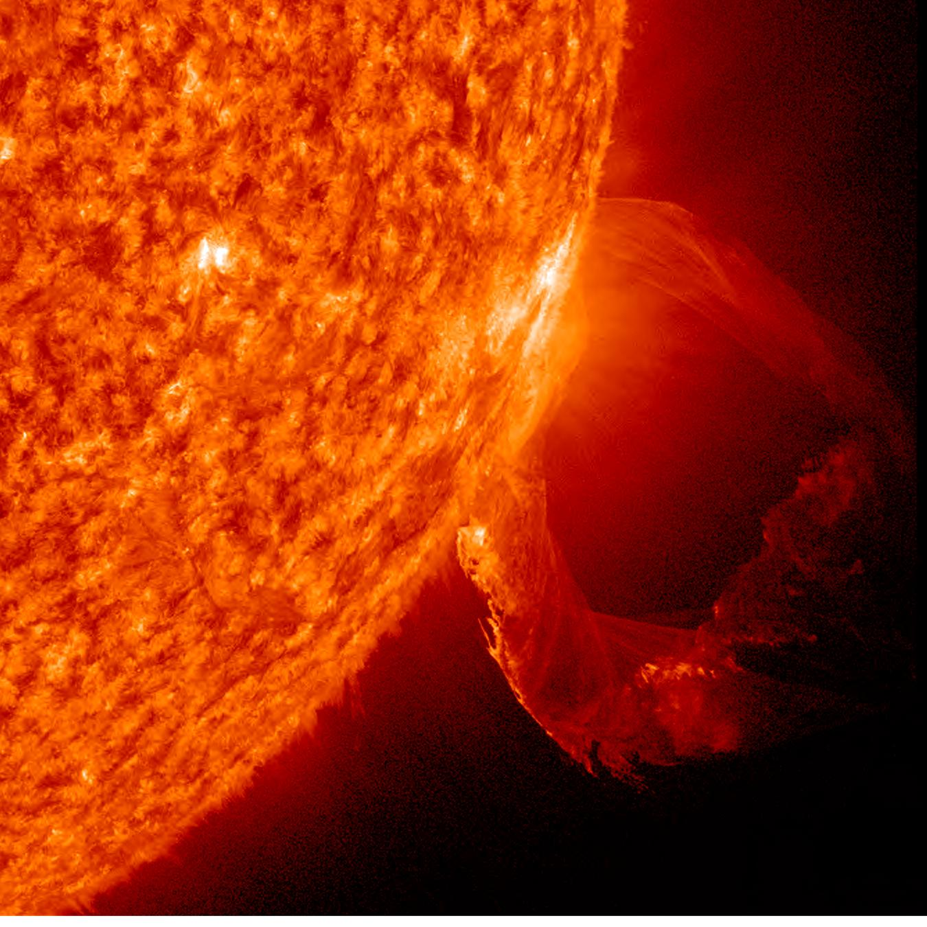 Prominence Eruption Up-Close   NASA image captured March ...
