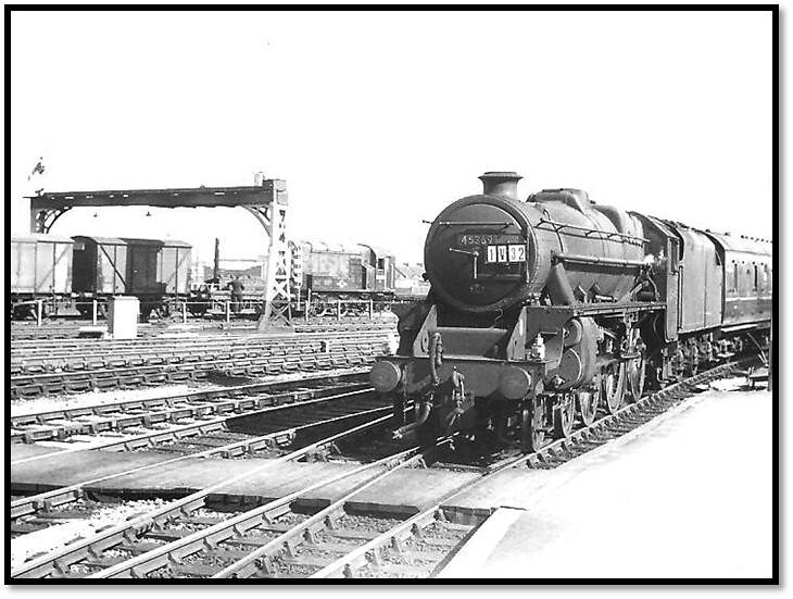 45369 arrives at Temple Meads on Thursday March 26 1964
