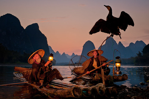 Cormorant Fishermen at Dusk ~ Guilin ~ China ~ Photography ~ Off Camera Flash ~ Nikon ~ CLS ~Landscape