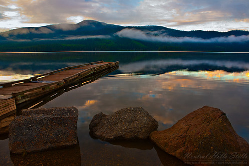 Lake East of Grand Cache, Alberta, at Sunrise