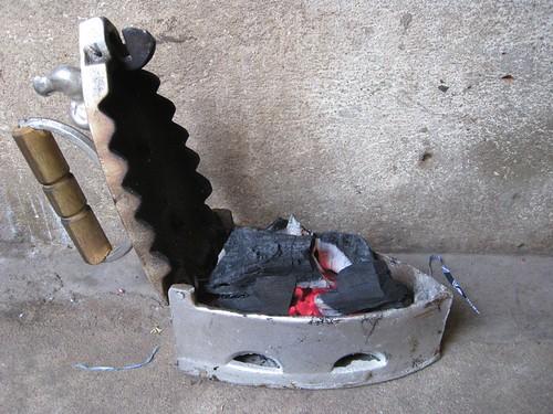 coal-powered iron