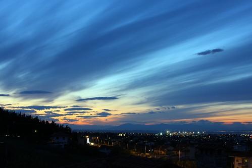sunset ηλιοβασίλεμα πανόραμα θέρμη πεδιάδατωνβασιλικώνήκοιλάδατουανθεμούντοσplainanthemusθέαπροσθεσσαλονίκη κρήνηviewofthessaloniki thermipanoramakrini