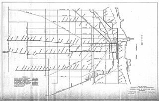 City of Chicago Department of Subways and Superhighways General Plan of West Side Area Showing Proposed Rapid Transit Facilities (1944)
