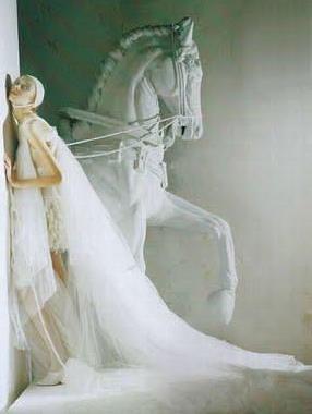 White - Vogue Italia - Horse
