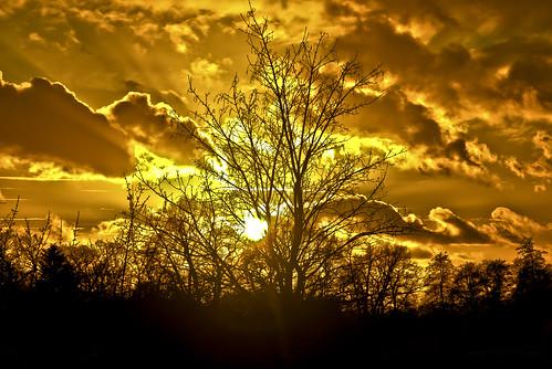 sunset nikon sonnenuntergang cloudy nikkor 18mm wolkig 105mm d90