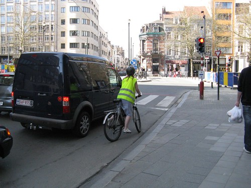 Wary Brussels cyclist