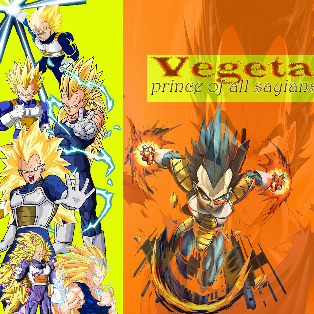 Vegeta collage