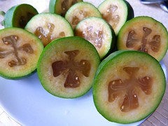 Feijoas from the garden