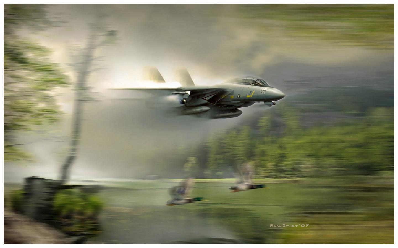 рисунок Истребитель-перехватчик F-14