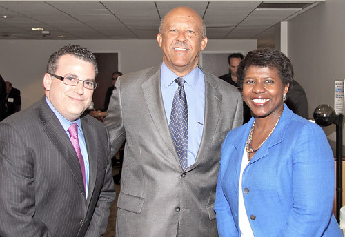 David Chalian, Ernest Wilson and Gwen Ifill