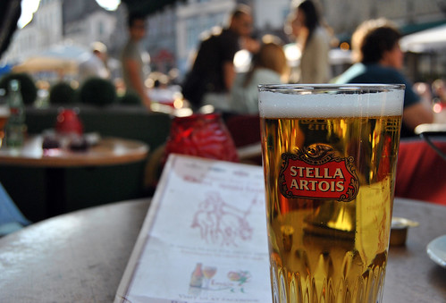 Beberf cerveza en Brujas
